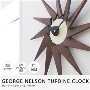 GEORGE NELSON TURBINE CLOCK ジョージ・ネルソンタービンクロック(NT) ウォールナット