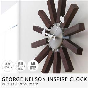 GEORGE NELSON INSPIRE CLOCK ジョージ・ネルソンインスパイアクロック(NT) ウォールナット