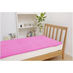 ふっくらマシュマロタッチ マイクロファイバー毛布&敷きパッドセット シングル ピンク