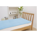 ふっくらマシュマロタッチ マイクロファイバー毛布&敷きパッドセット シングル ブルー