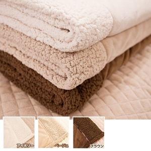 マイクロファイバーぬくぬく2枚合わせ毛布(ボリュームタイプ) ダブル アイボリー