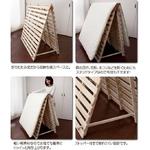 折りたたみ すのこベッド(スタンド式) ダブル