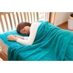 ふっくらマシュマロタッチ マイクロファイバー毛布&敷きパッドセット シングル ターコイズ