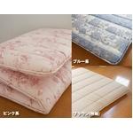 東洋紡フィルファーモニィ綿使用 ボリューム3層式 敷布団 セミダブルサイズ ブラウン