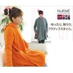 着るブランケット NuKME(ヌックミィ) アクティブスタイル ゆったりフレア オレンジ