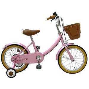 子供用16インチ自転車 /補助輪付き ピンクの詳細を見る