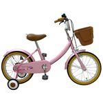 子供用16インチ自転車 /補助輪付き ピンク