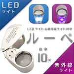 紫外線ライト&LEDライト付きルーペ