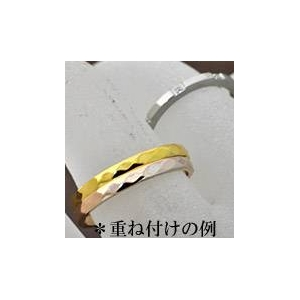 ステンレスリング ダイヤモンドカット細身リング ピンクゴールドカラー 11号