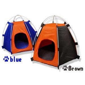 ペット用テント ブラウン 犬や猫の寝室・おもちゃに