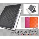 新しいiPad・iPad2用モダン市松模様ケース ブラック