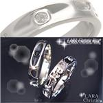 LARA Christie エターナルリング R586-BK/ブラック 15号