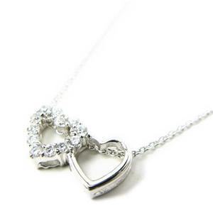jestic heart*ジェスティックハート 寄り添うローズマリーハートネックレス