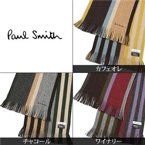 Paul Smith ストライプマフラー 181G/S16 ワイナリー