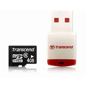 Transcend(トランセンド) 4GB microSD + 小型USBカードリーダー P3付き