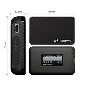 Transcend(トランセンド) 1.8インチ ポータブルSSD TS128GSSD18M-M 128GB
