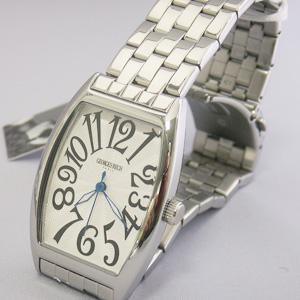 ジョルジュレッシュ 紳士 3針メタル腕時計 GR-14001-01 シルバー(黒)