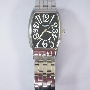 ジョルジュレッシュ 紳士 3針メタル腕時計 GR-14001-02 ブラック