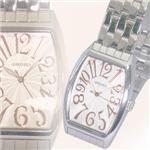 ジョルジュレッシュ 紳士 3針メタル腕時計 GR-14001-04 シルバー(PG)
