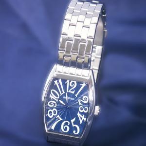 ジョルジュレッシュ 紳士 3針メタル腕時計 GR-14001-05 ダークブルー