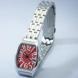 ジョルジュレッシュ 婦人 3針メタル腕時計 GR-14002-03 レッド