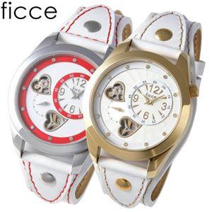 ficce(フィッチェ) ツインムーブ レディースサマー レザーウォッチ FC-11031 SS(ホワイト)