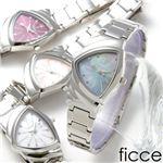 ficce(フィッチェ) レディースブレスウォッチ FC-11029-04/ワインレッド文字盤