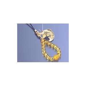 黄水晶昇鯉 ストラップ