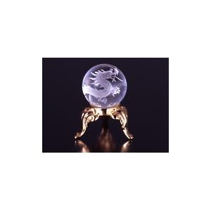 手彫り昇龍水晶玉
