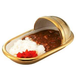 便器のカタチのカレー皿 和式/Gold Premium