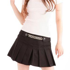 プリーツキュロットスカート 710120-2290 ブラック 38