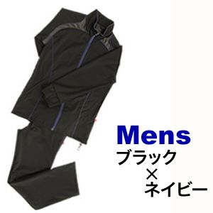 竹原慎二プロデュース・30UPシェイプスーツCUBE ブラック×ネイビー男性用 3Lサイズ