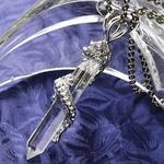 昇竜八角水晶ネックレス(チタンチェーン) チェーン50cm