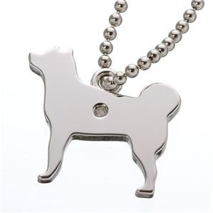 ダイヤ付き シルバーストラップ 犬