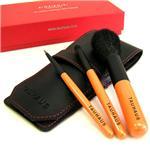 熊野産化粧筆3本+オリジナルブラシケースセット