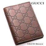 GUCCI カードケース  146230 ブラウン