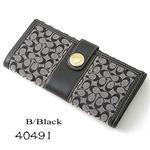 COACH 長財布 エルゴ 40491 ブラック/BBKW2