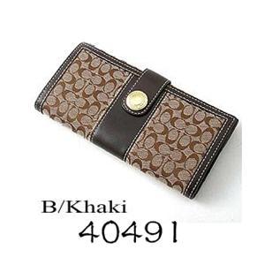 COACH 長財布 エルゴ 40491 カーキ/BKHMA