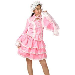 スイートドレス(チュールメイド)ピンク/白 M
