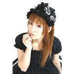 ★ロリータカチューシャ 黒★   ブラックのフリルとリボンがかわいい感じ★1,995円 ⇒  1,695円