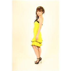 ドレス キャバクラドレス パーティードレス シャーリングドレス 黄色(イエロー)