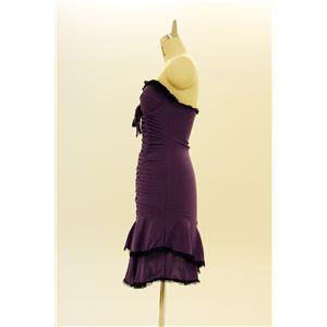 ドレス キャバクラドレス パーティードレス シャーリングドレス 紫(パープル)