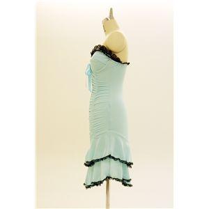 ドレス キャバクラドレス パーティードレス シャーリングドレス 青(ライトブルー)