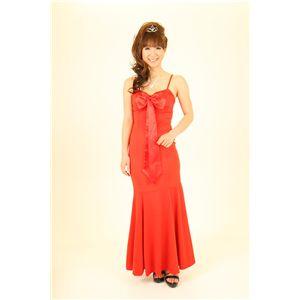 ナイトドレス リボンロングドレス レッド