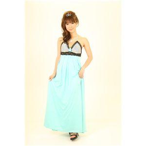 ドレス キャバクラドレス パーティードレス 胸元Aライン水玉(ピンク)