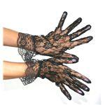 手袋 ショート丈レース 黒(ブラック)
