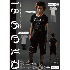 ラウンドネックTシャツ&ハーフパンツ 黒/黒