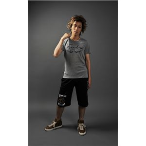 ラウンドネックTシャツ&ハーフパンツ グレー/黒