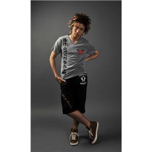 VネックTシャツ&ハーフパンツ グレー/黒