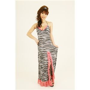 ナイトドレス ゼブラ ピンク